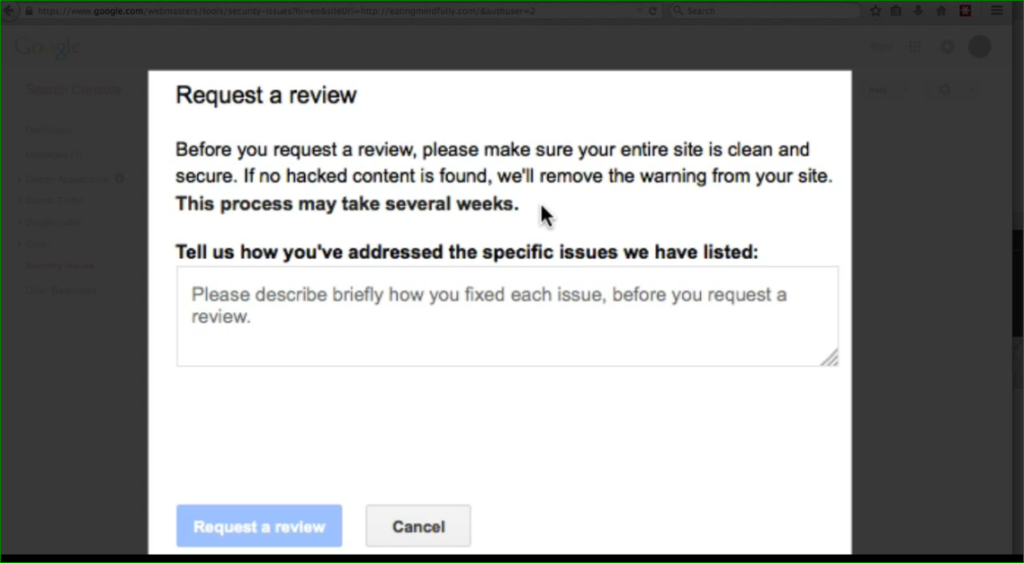 google-malware-warning-request-a-review